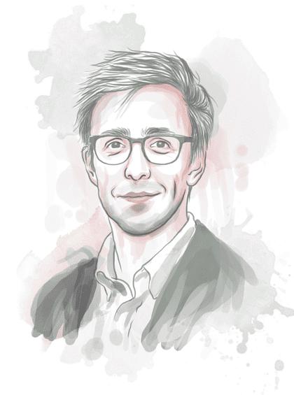 Illustration of Bricklane CEO Simon Heawood
